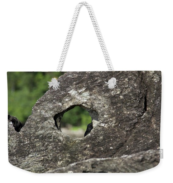 Weekender Tote Bag featuring the photograph Rocky View Point by Debbie Cundy