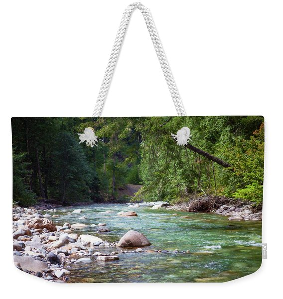Rocky Waters In The North Cascades Landscape Photography By Omas Weekender Tote Bag