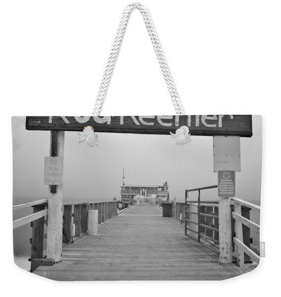 Rod And Reel Pier In Fog In Infrared 53 Weekender Tote Bag