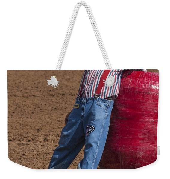 Rodeo Clown Resting Weekender Tote Bag