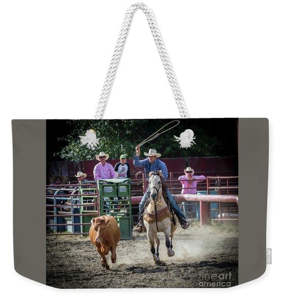 Cowboy In Action#1 Weekender Tote Bag