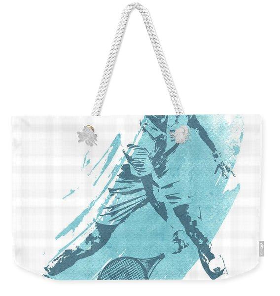 Roger Federer Tennis Water Color Art 1 Weekender Tote Bag