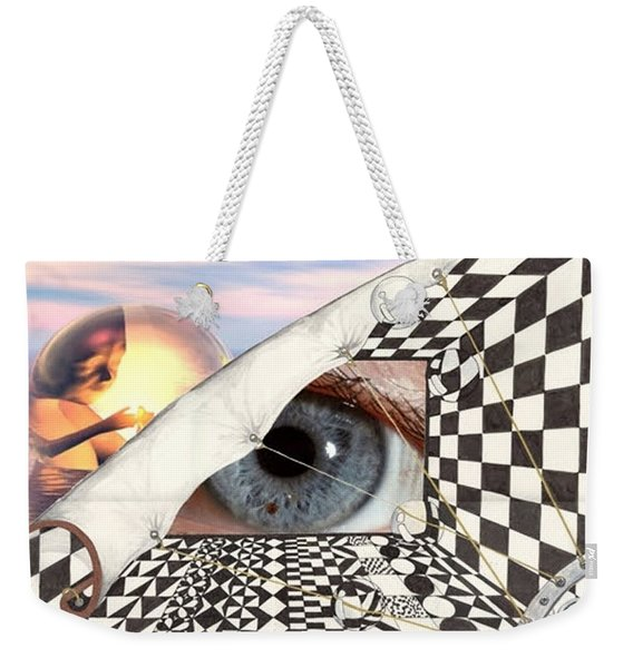 Roll Back Weekender Tote Bag