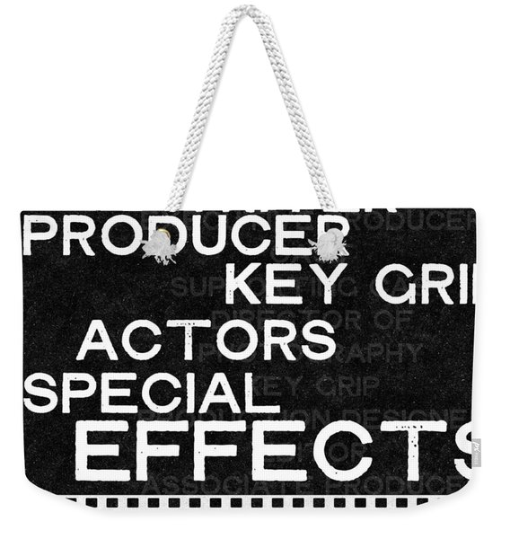 Roll Credits- Art By Linda Woods Weekender Tote Bag
