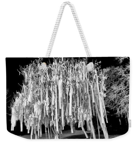 Rolled Tree Blk N White Weekender Tote Bag