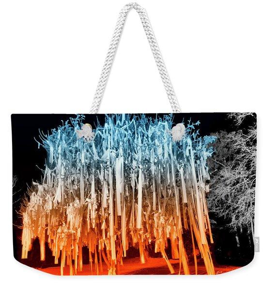 Rolled Tree Orangenblue Weekender Tote Bag