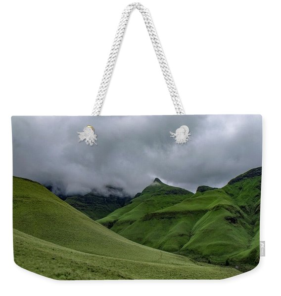 Rolling Green Drakensberg Mountains Weekender Tote Bag