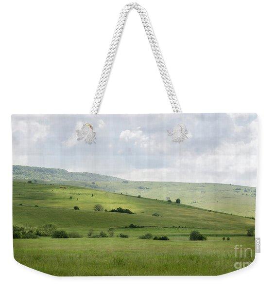 Rolling Landscape, Romania Weekender Tote Bag