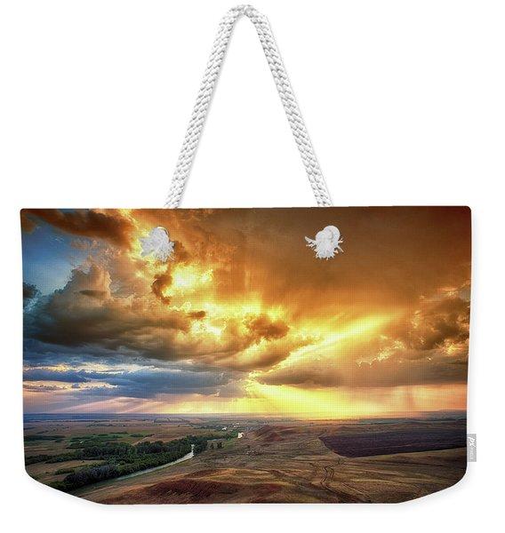 Rolling Rain Of Summer Sunset Weekender Tote Bag