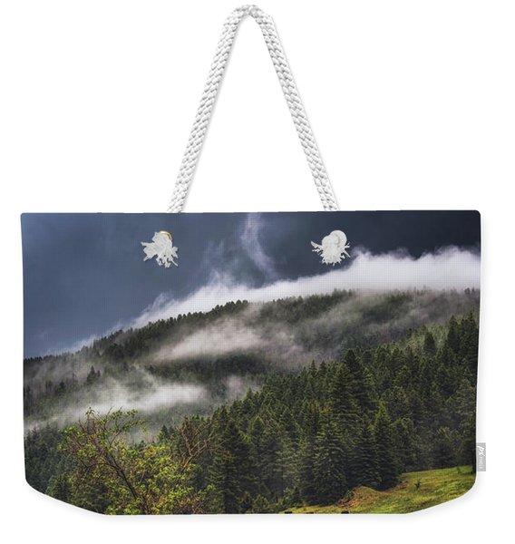 Rolling Through The Trees Weekender Tote Bag