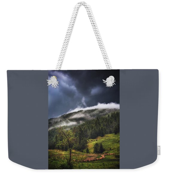 Rolling Through The Trees Weekender Tote Bag