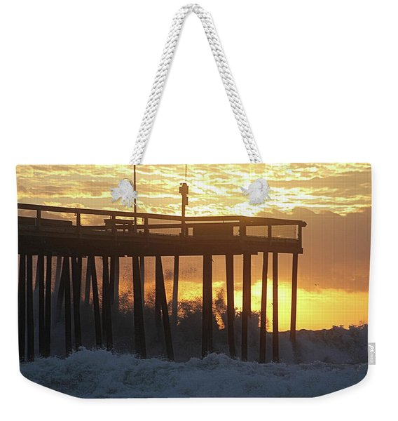 Rolling Waves At The Pier Weekender Tote Bag