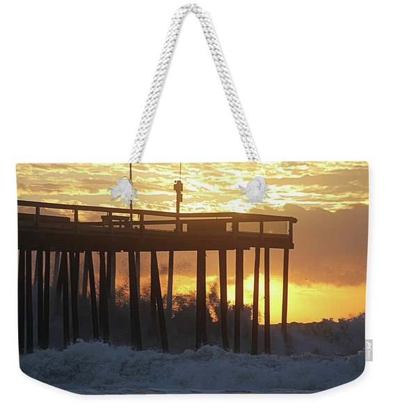 Rolling Waves At The Pier Weekender Tote Bag