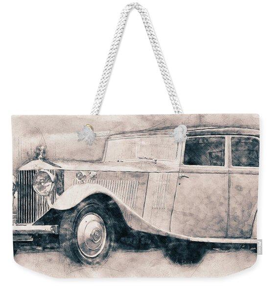 Rolls-royce Phantom - Luxury Car - 1925 - Automotive Art - Car Posters Weekender Tote Bag