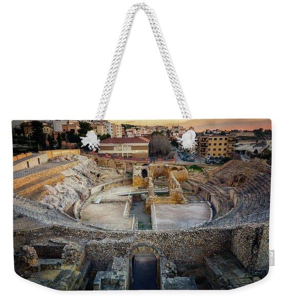 Roman Amphitheatre Tarragona Spain Weekender Tote Bag