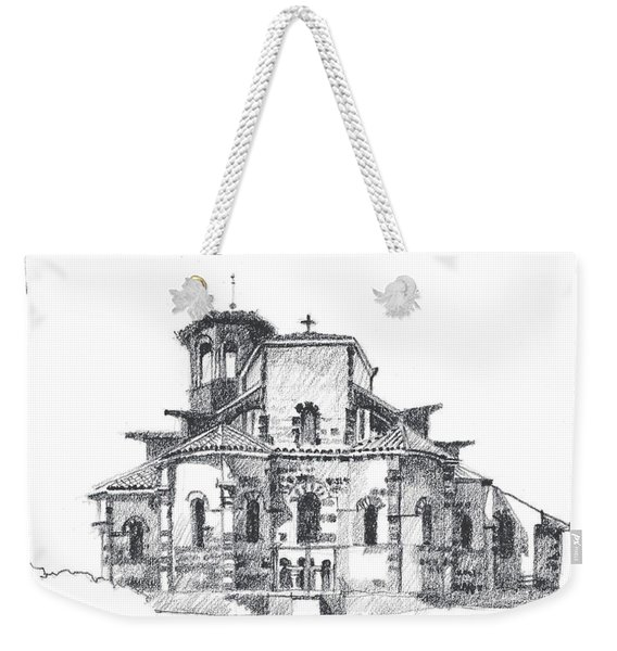 Roman Church At Chamalieres Weekender Tote Bag