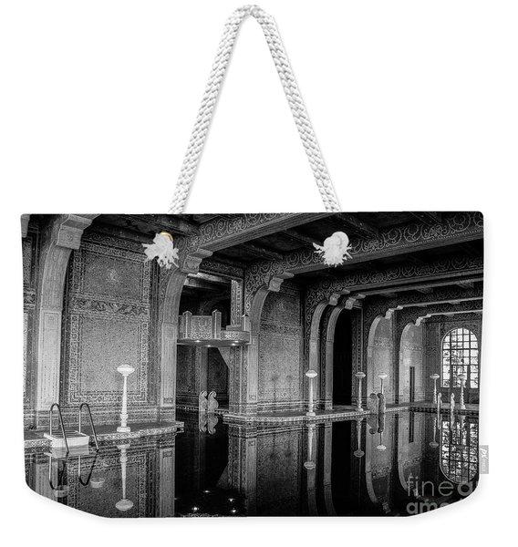 Roman Pool, Black And White Weekender Tote Bag