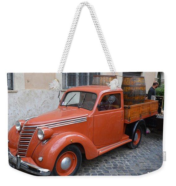 Roman Street Parking And Shopping Weekender Tote Bag