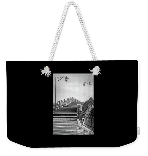 Romantic Bridge In Bw Weekender Tote Bag