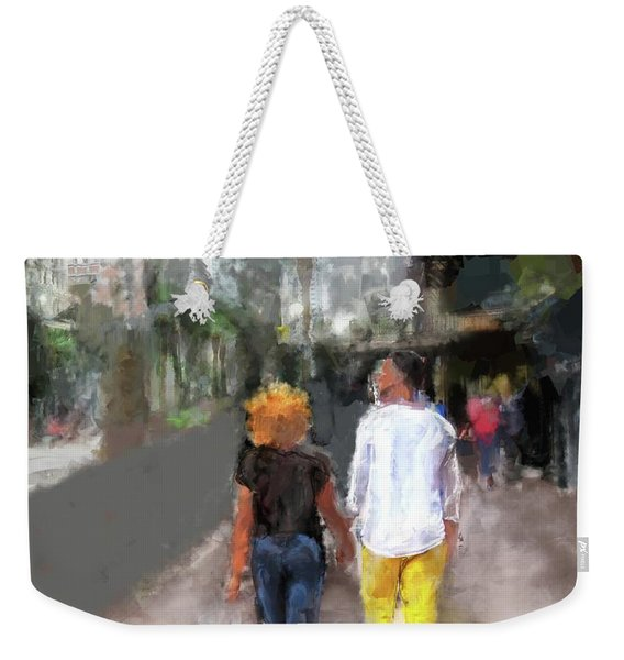 Romantic Couple Weekender Tote Bag