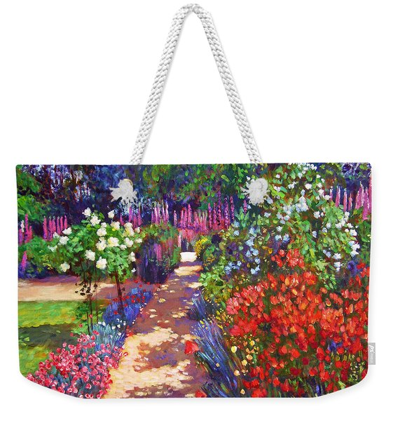 Romantic Garden Walk Weekender Tote Bag