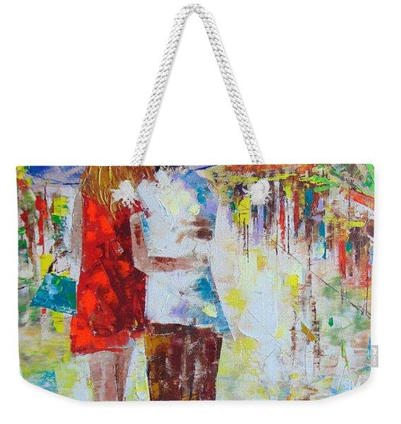 Romantic Paris Weekender Tote Bag