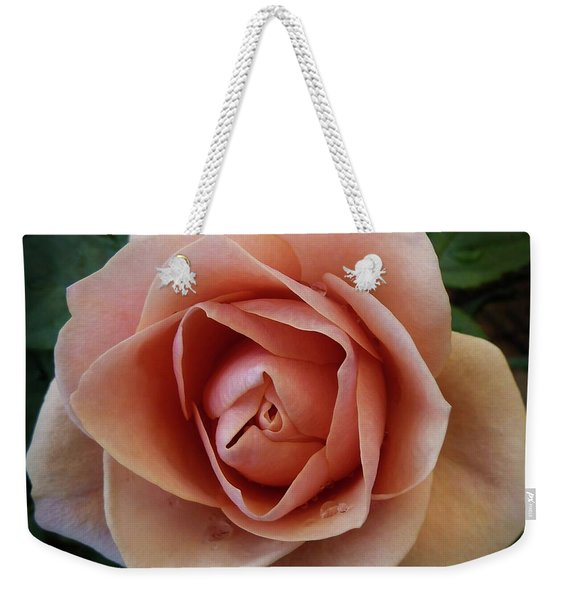 Weekender Tote Bag featuring the photograph Romantic Rose by Patricia Strand