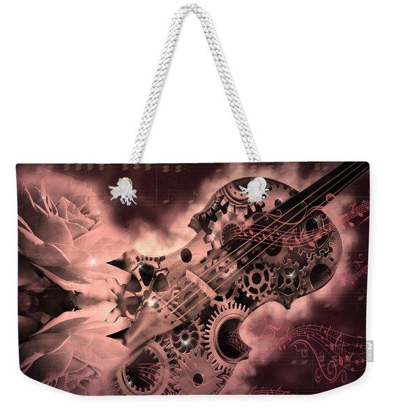 Romantic Stemapunk Violin Music Weekender Tote Bag