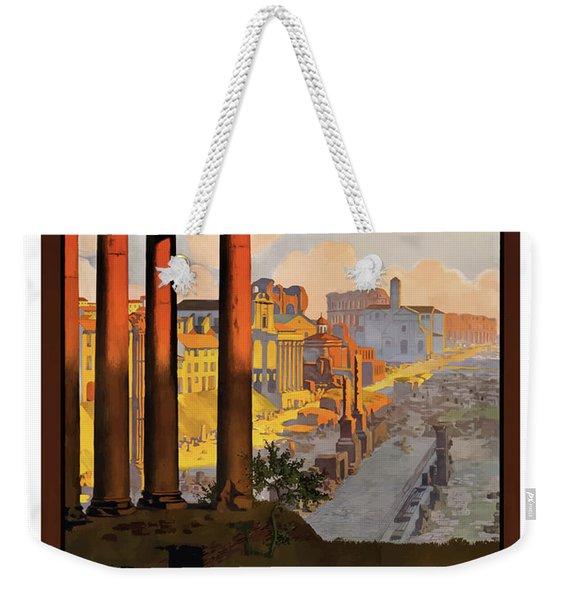 Rome, Ancient Ruins, Railway Weekender Tote Bag