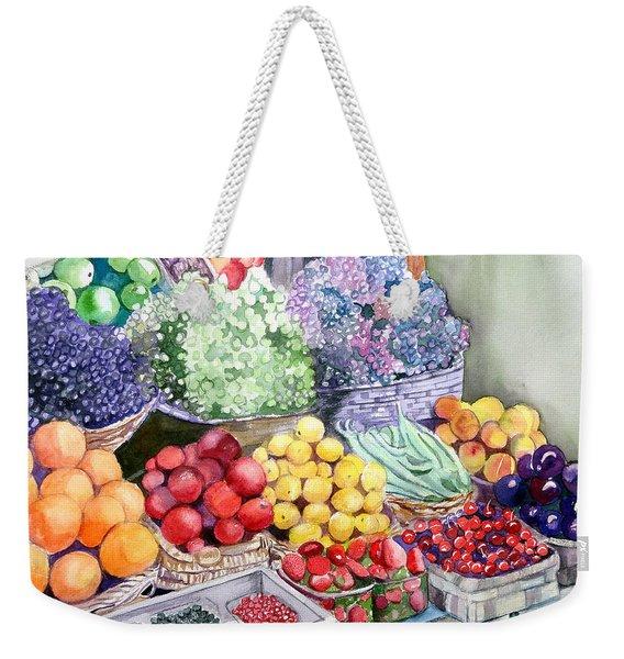 Rome Market Weekender Tote Bag