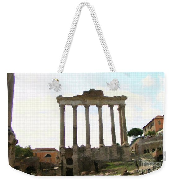 Weekender Tote Bag featuring the mixed media Rome The Eternal City by Rosario Piazza