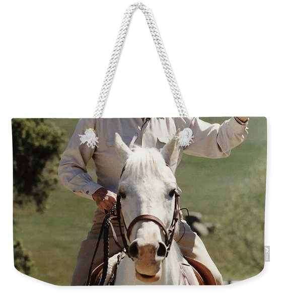 Ronald Reagan On Horseback  Weekender Tote Bag