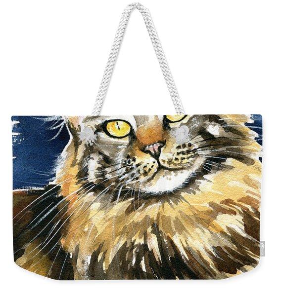 Ronja - Maine Coon Cat Painting Weekender Tote Bag