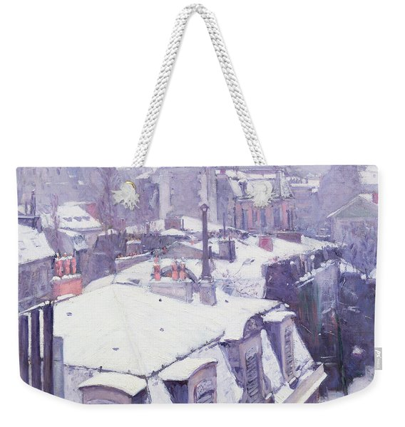 Roofs Under Snow Weekender Tote Bag