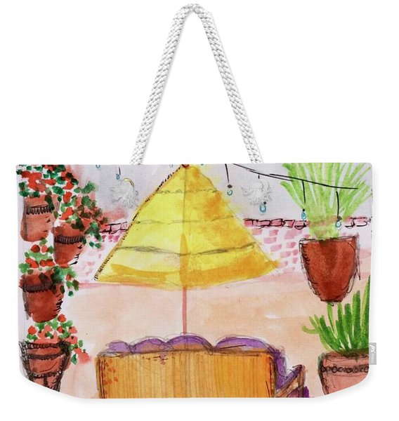 Rooftop At The Canary Weekender Tote Bag