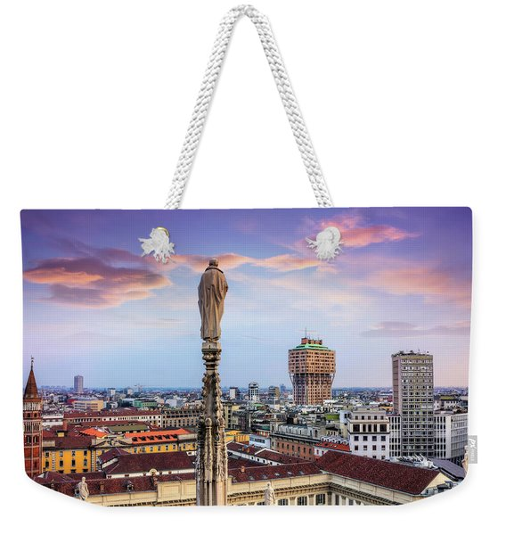 Rooftops Of Milan From The Duomo  Weekender Tote Bag
