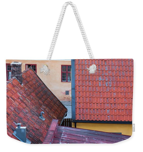 Rooftops Of The Swedish Town Visby Weekender Tote Bag