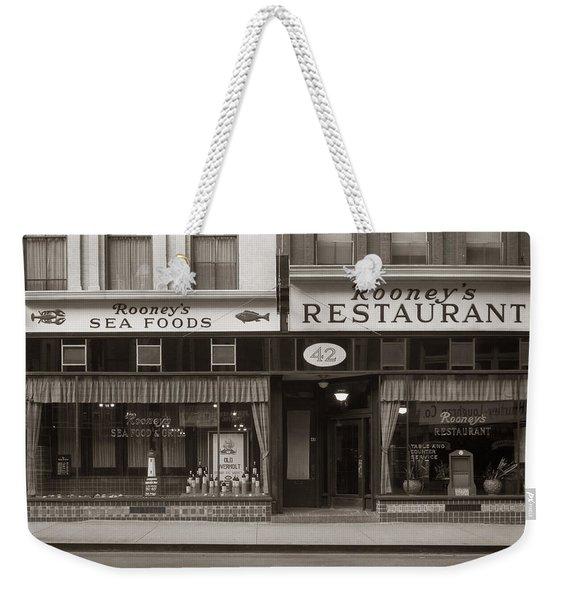 Rooney's Restaurant Wilkes Barre Pa 1940s Weekender Tote Bag