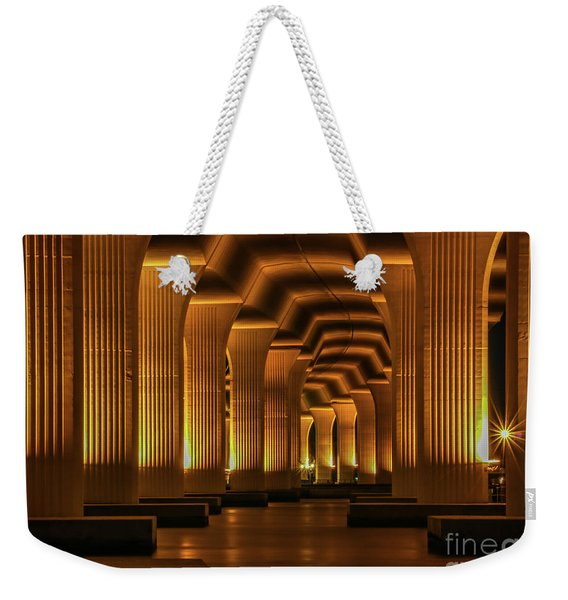 Weekender Tote Bag featuring the photograph Roosevelt Night Shot by Tom Claud