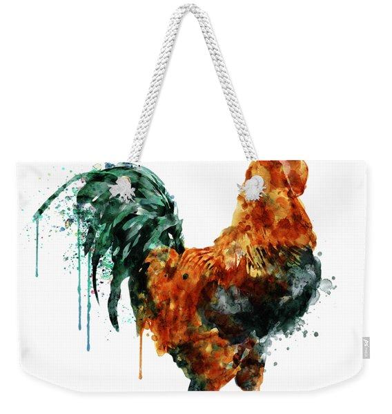 Rooster Watercolor Painting Weekender Tote Bag