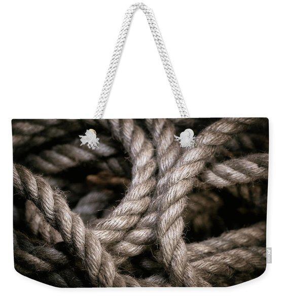 Rope Abstract Weekender Tote Bag