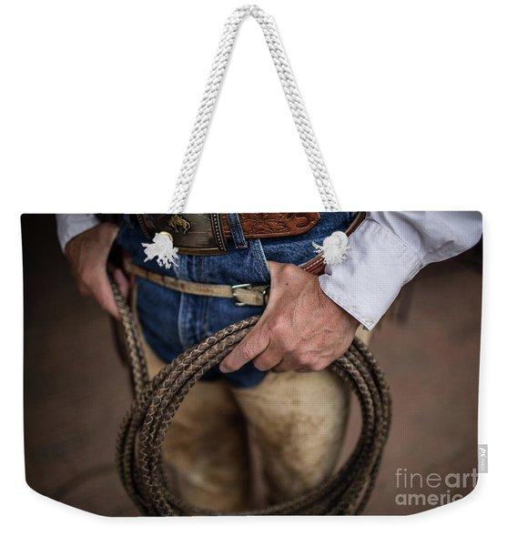 Rope And Belt Weekender Tote Bag