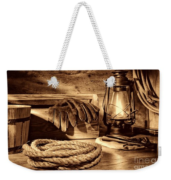 Rope And Tools In A Barn Weekender Tote Bag