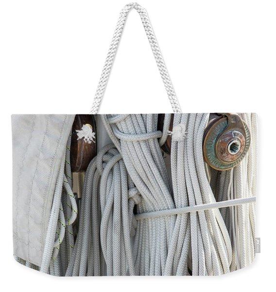 Ropes Of A Sailboat Weekender Tote Bag