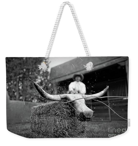 Roping Practice Weekender Tote Bag