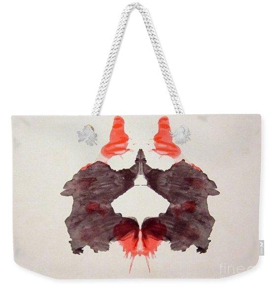 Rorschach Test Card No. 2 Weekender Tote Bag