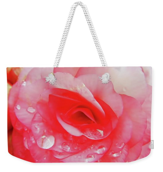 Rose After The Rain Weekender Tote Bag