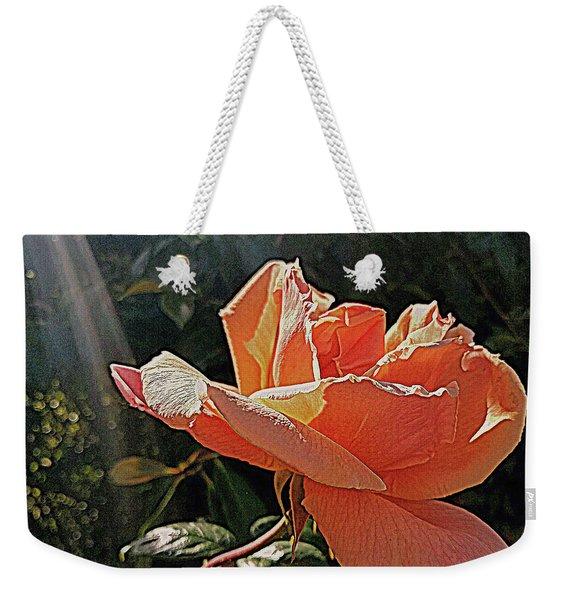 Rose And Rays Weekender Tote Bag