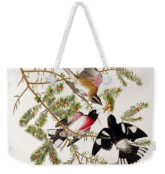 Rose Breasted Grosbeak Weekender Tote Bag