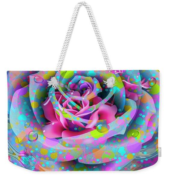 Weekender Tote Bag featuring the digital art Rose by Eleni Mac Synodinos